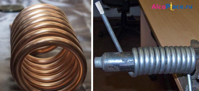 Змеевик из медной трубки как теплообменник Кожухотрубный конденсатор ONDA L 17.307.1524 Пенза