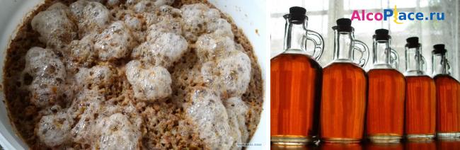 Как приготовить самогон из пшеницы - от приготовления зерновой браги до перегонки