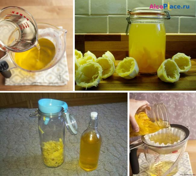 ликёр из лимонов с мякотью рецепт с фото